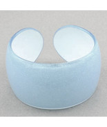 Bangle Bracelet Lucite Barely Blue Translucent Sparkle - $9.99