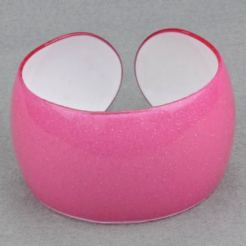 Bangle lucite pink translucent sparkle