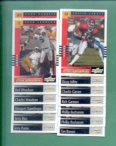 2003 Score Oakland Raiders Football Team Set