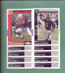 2003 Score Philadelphia Eagles Football Team Set