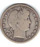 Nice 1915 S  Barber Half. - $20.00