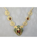 Amber Green Necklace Semi Prescious Stone Swaro... - $445.00