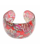 Bangle Bracelet Lucite Paisley Design Pattern - $9.99