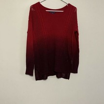 American Eagle Ombre Red Maroon Sweater XS - $19.80