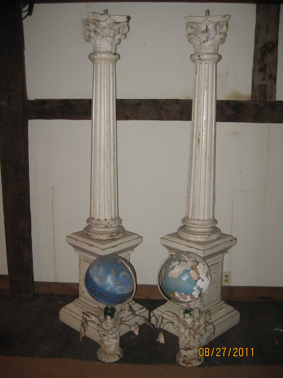 Pair of Masonic Collumns 7' high