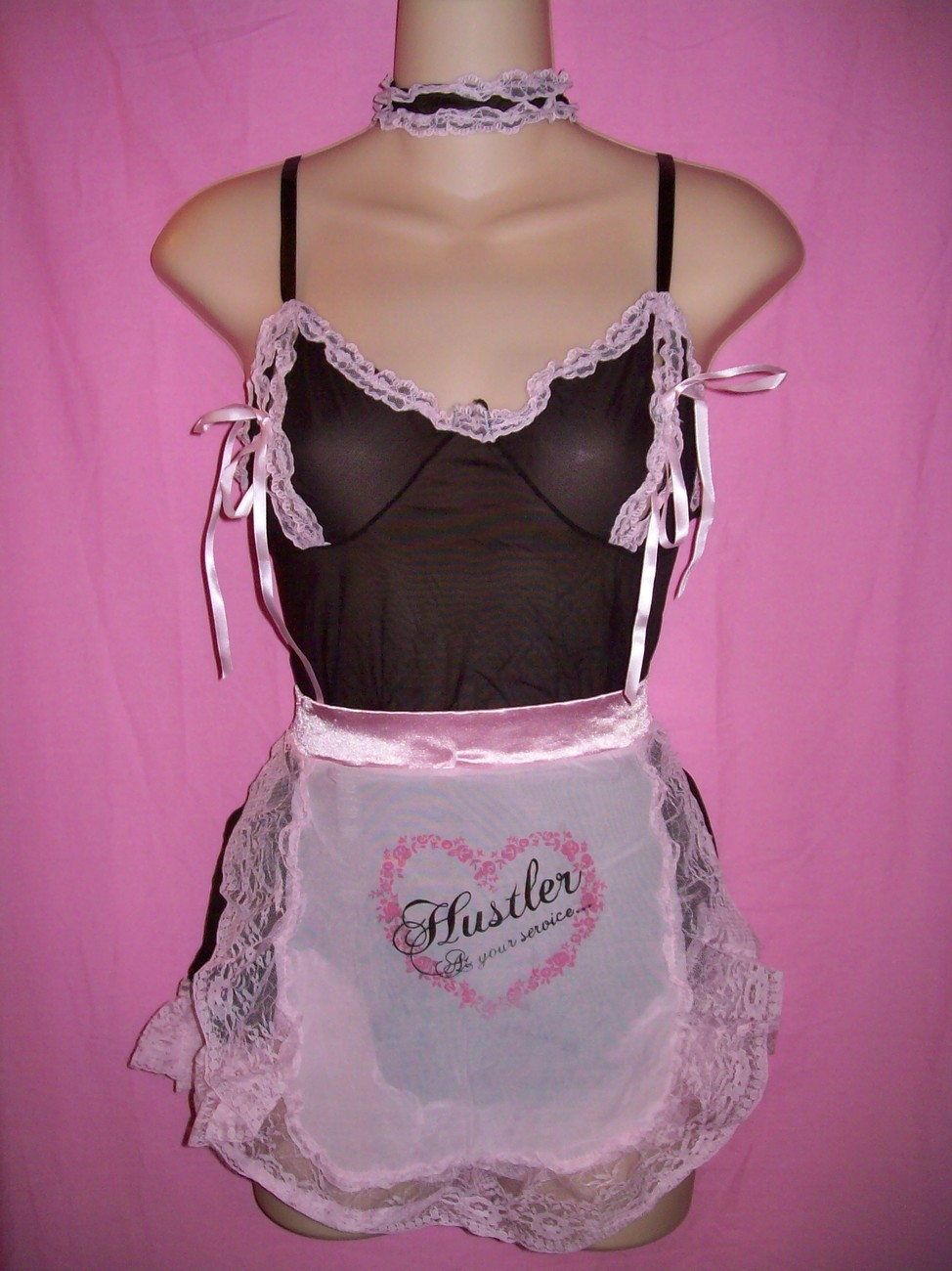 Hustler Lingerie Sexy French Maid 4 piece Set: One Size