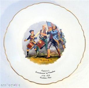 Bicentennial Souvenir Plate, Fostoria, Ohio, 1776