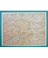 """1905 MAP Baedeker - AUSTRIA Leoben Steyr Sankt Gallen Liezen 6 x 8"""" (15 ... - $13.05"""
