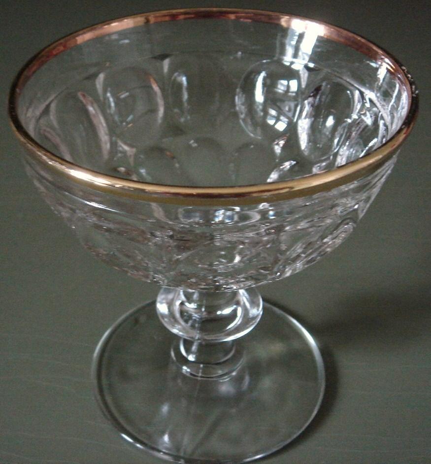 Jeannette gold rim sherbet