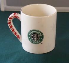 Starbucks Peppermint Stripe Handle Coffee Mug  2001 VGC - $12.50