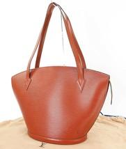 Auth LOUIS VUITTON Saint Jacques Large Brown Epi Leather Shoulder Bag #32571 - $395.00