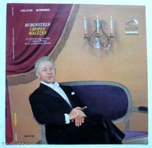 Rubinstein, Chopin Waltzes, Print LP Proof, 1960, Rare