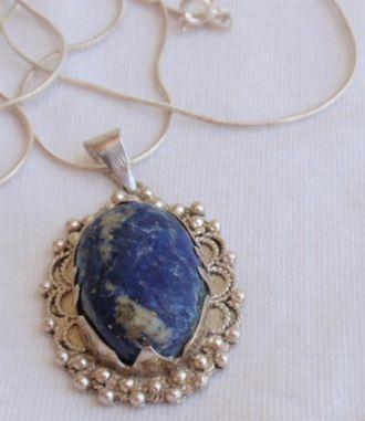 Oriental silver pendant