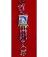 original art pendant -Swan lake in Pink - $19.99