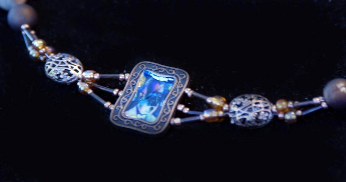 original art  pendant and earrings artist Vincent Van Gogh S