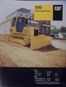 2003 Caterpillar D3G Crawler Tractor Brochure - Color