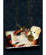 unique art domino pendant woman face watch stea... - $14.99