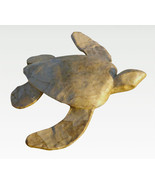 Natural Biodegradable Paper Turtle, Hand Crafted Keepsake Cremation Urn - $89.99