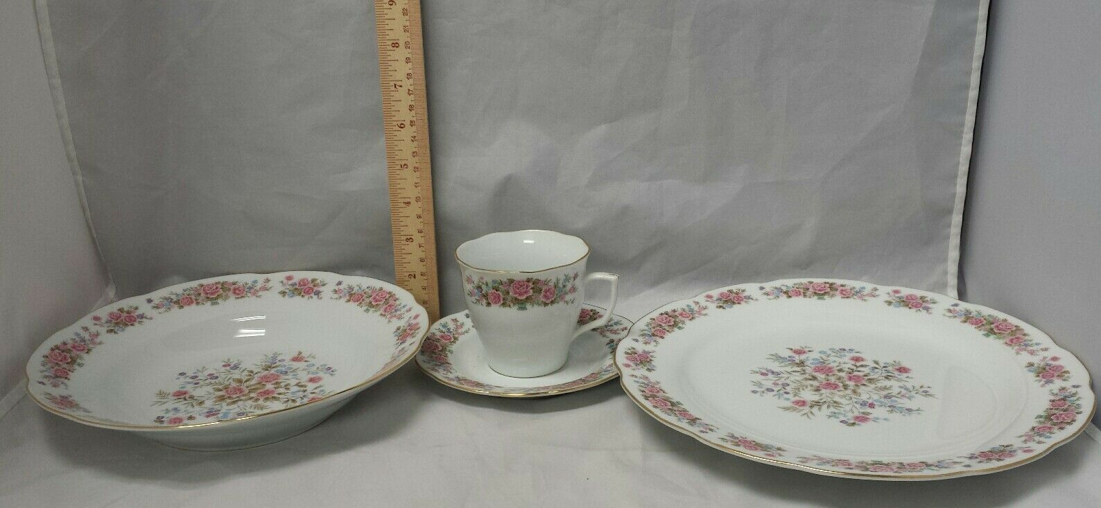 Remington Fine China: Spring Garden by Red Sea, Plate, Soup Bowl, Tea Cup Saucer image 5