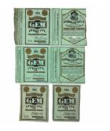 Antique Victorian Richmond Gem Curry Cut Cigarette Tobacco Paper Labels ... - $88.72