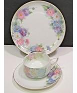 3 Piece Hand Painted Dessert  Set Tea Cup Saucer Plate Rosenthal & Bavar... - $31.68