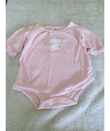 Just One Year By Carter's Picked With Love Pink NB Body Suit With Bunny - $2.99