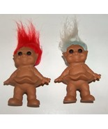 Troll Set Red and Blue Hair Molded Dress - $14.00