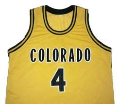 Chancey Billups College Basketball Jersey Sewn Gold Any Size image 3