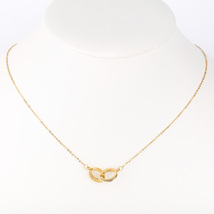 UE- Gold Tone Designer Eternity Pendant Necklace With Swarovski Style Crystals - $16.99