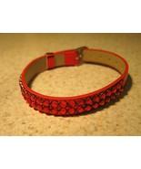BRACELET BLING BANGLE RED METALLIC RHINESTONE #319 - $11.99