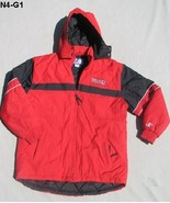 Hooded Red Nebraska Lined Jacket Boys Size Large (14-16)  - $16.99
