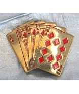Baron 70s Enamel Brass Straight Flush Belt Buckle - $29.95