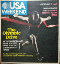 The Olympic Drive -Stephen & Sean Covey @ USA WEEKEND Las Vegas Magazine July 20 - $3.95