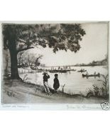 ELIAS M. GROSSMAN ETCHING LAKE GLENMERE CHESTER,N.Y.'41 - $400.00