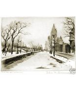 ELIAS M. GROSSMAN ETCHING CENTRAL PARK WEST, NEW YORK - $400.00