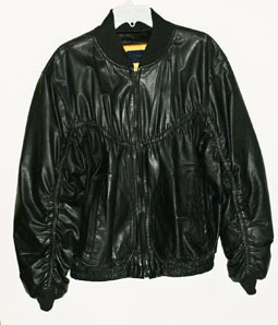 Black Leather Bomber Jacket Lambskin Mens Peter James Made in the USA-M Runs Big