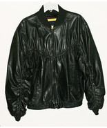 Black Leather Bomber Jacket Lambskin Mens Peter... - $79.99