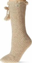 UGG Nessie Fleece Lined Oatmeal Women's Crew Socks 1121162 - $48.00