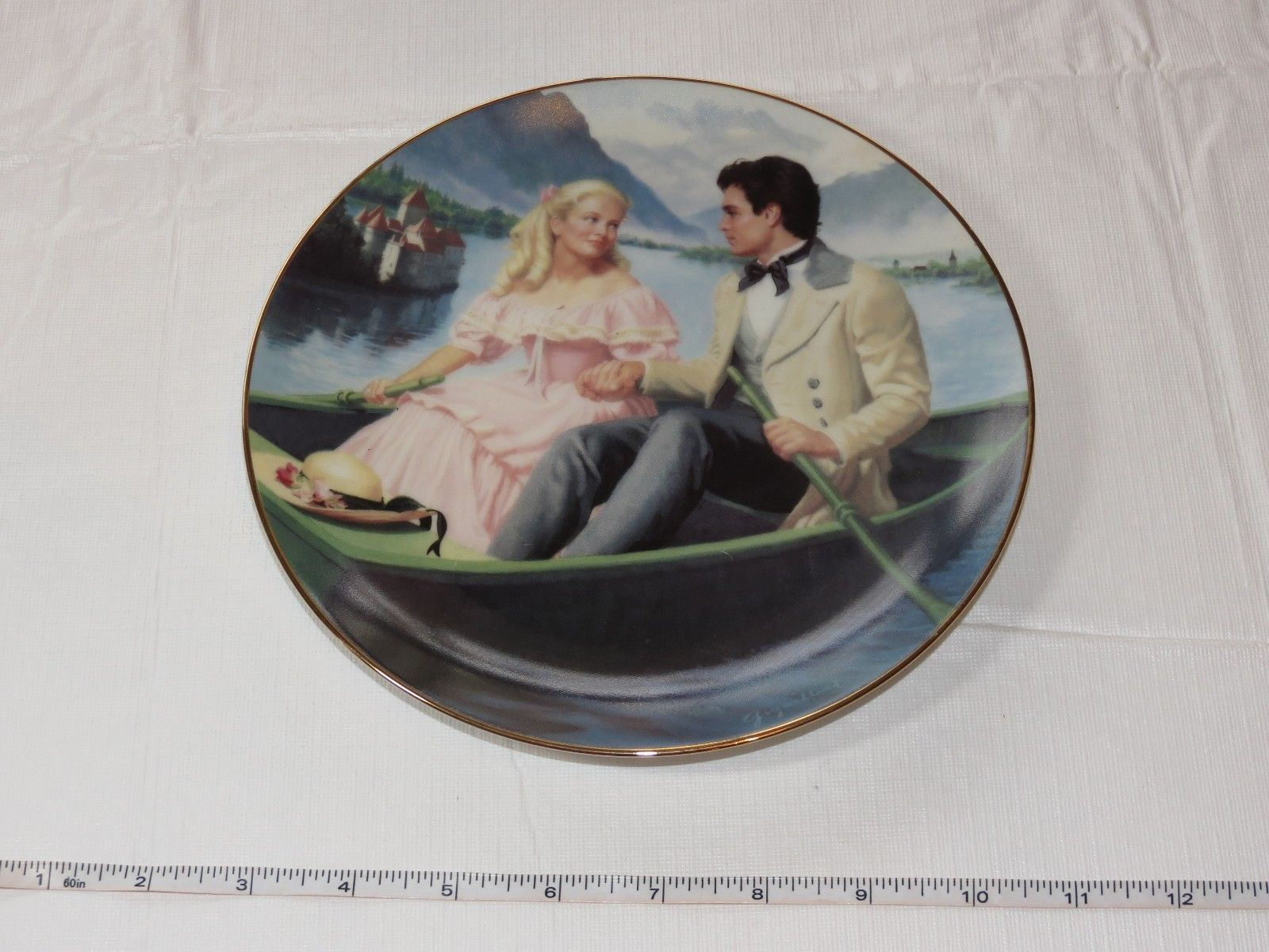Laurie's Proposal Elaine Gignilliat Little Women Danbury Mint Collector Plate ~ image 2