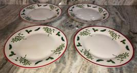 "Xmas Royal Norfolk Holly/Berries 10.5"" Dinner Formal Set Of 4 Plates-NEW... - $39.08"