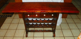 Pine & Cherry Old Tavern Wine Server / Table by Ethan Allen - $599.00