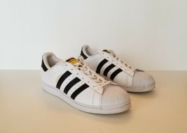 Adidas Superstar Size 8.5 Mens Sneakers C77124 White Black Leather Shell... - $57.84