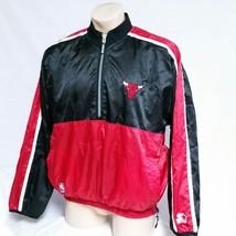 VTG Chicago Bulls Starter Windbreaker Jacket Pullover Reversible Coat Sk... - $49.99