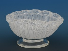 Vintage Murano Glass White Zanfirico  Small Footed Bowl c.1950 image 2