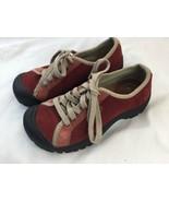 KEEN PRESIDIO XT 0507 Women's Red Suede Hiking Sneaker Shoe US Size 7 EU... - $28.04