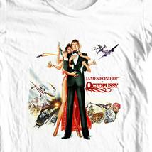 James Bond Octopussy T-shirt 007 Moonraker retro 70s movie cotton graphic tee image 1