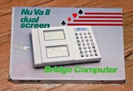 Nu Va II Dual Screen Bridge Card Game Computer Model NV-222 With Box Vin... - $20.18