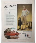 Print Ad  Red Car 1948 Lady , Kaiser & Frazer - $9.97