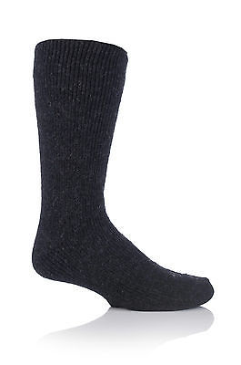 Mens WOOL 2.7 Tog Original Thermal Heat Holders Socks 6-11 uk, 39-45 eur BLACK