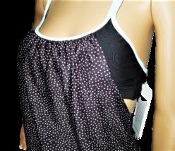 NEXT Black with Light Blue Dots Blouson Swimsuit Top Size 32 B/C image 2